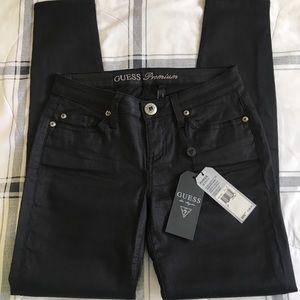 NEW GUESS Premium Power Skinny Black Jeans pant